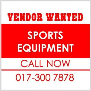 Vendor Wanted Sports Equepment